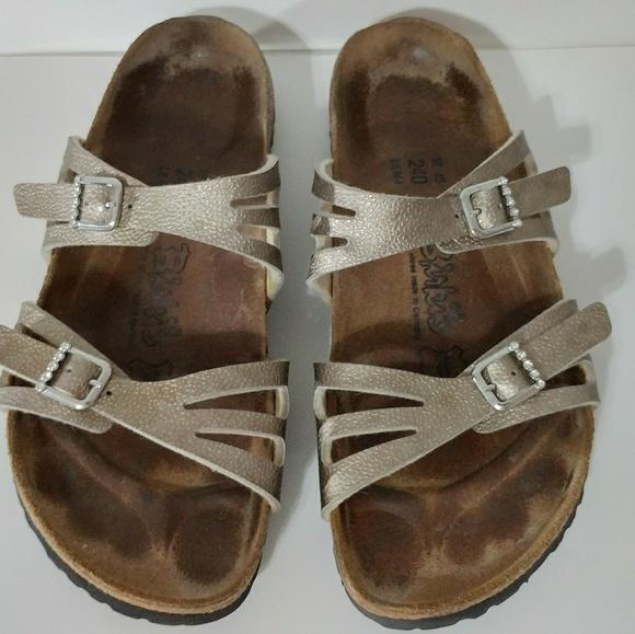 92e9e99ef2f926 Birkenstock Shoes - Birki s Moorea Rhinestone Buckles EUC